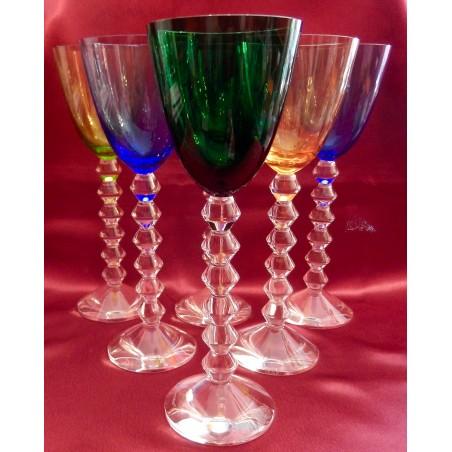 Verres à vin du Rhin Baccarat Vega couleurs