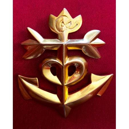 """Broche pendentif Christian Lacroix """"Croix de Camargue"""""""