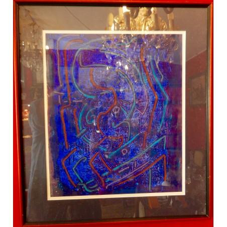 Homero (Panagiatopoulos), gouache sur papier, bleue