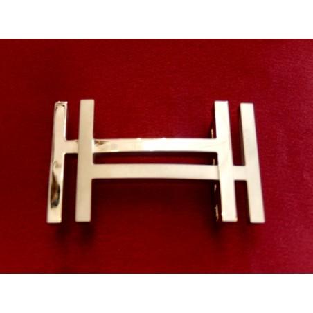Boucle de ceinture Hermès H au carré