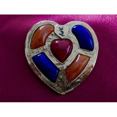 Broche pendentif Yves Saint Laurent modele Highlands