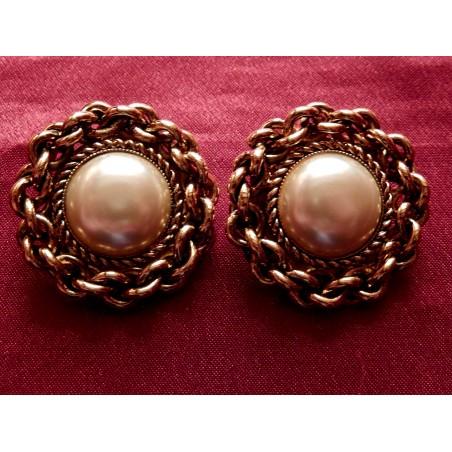 Boucles d'oreilles Chanel Perle