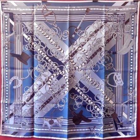 Carré foulard Hermès Brides et gris-gris