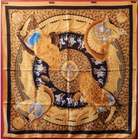 Carré foulard Hermès Casques et plumets