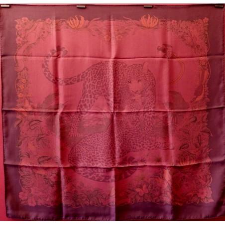 Carré foulard Hermès Jungle love surteint