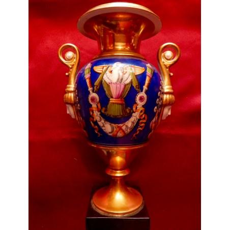 Vase porcelaine époque empire