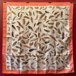 Carré foulard Hermès Plumes