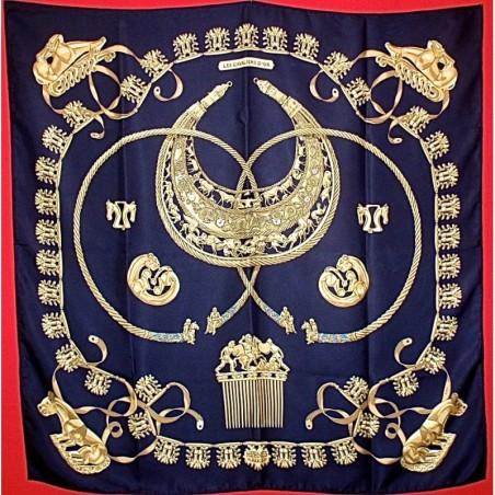 Carré foulard Hermès Les cavaliers d'or