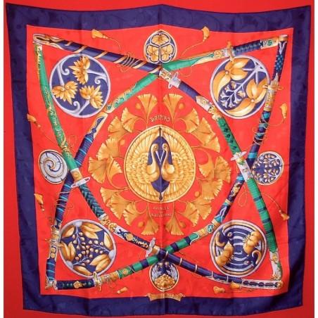Carré foulard Hermès Daïmyo princes du soleil levant
