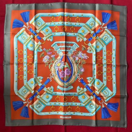 Carré foulard Hermès Aux champs