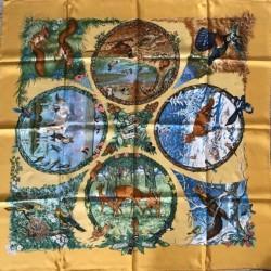 Carré foulard Hermès Les 4...