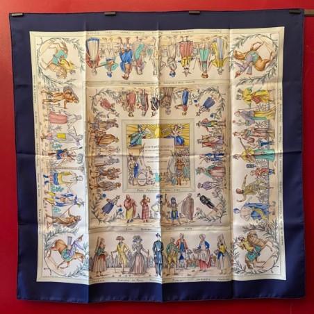Carré foulard Hermès Costumes actuels, édition spéciale pour les 200 ans de l'école polytechnique