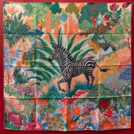 Carré foulard Hermès Mountain zebra