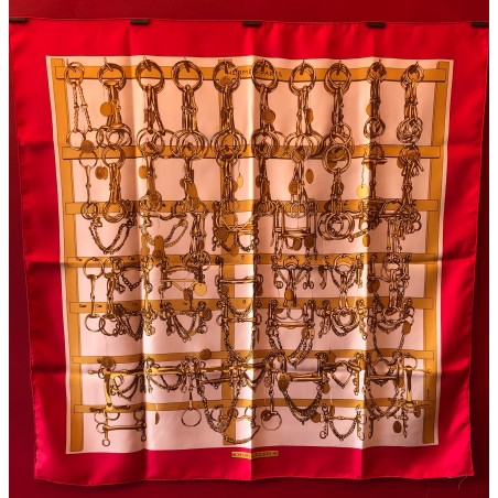 Carré foulard Hermès Mors et filets
