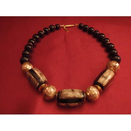 Collier vintage Balenciaga perles de nacre